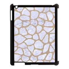 Skin1 White Marble & Sand Apple Ipad 3/4 Case (black) by trendistuff