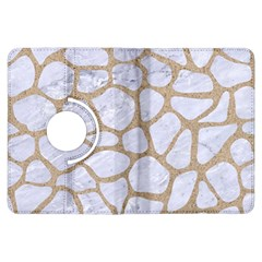 Skin1 White Marble & Sand Kindle Fire Hdx Flip 360 Case by trendistuff