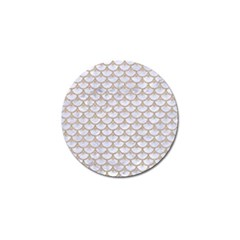 Scales3 White Marble & Sand (r) Golf Ball Marker by trendistuff