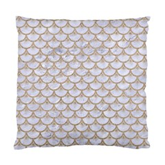 Scales3 White Marble & Sand (r) Standard Cushion Case (two Sides) by trendistuff