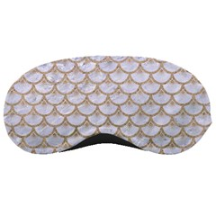 Scales3 White Marble & Sand (r) Sleeping Masks by trendistuff