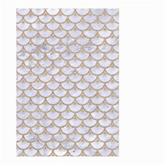 Scales3 White Marble & Sand (r) Small Garden Flag (two Sides) by trendistuff