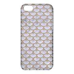 Scales3 White Marble & Sand (r) Apple Iphone 5c Hardshell Case by trendistuff