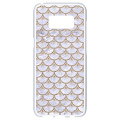 Scales3 White Marble & Sand (r) Samsung Galaxy S8 White Seamless Case by trendistuff