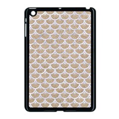 Scales3 White Marble & Sand Apple Ipad Mini Case (black) by trendistuff