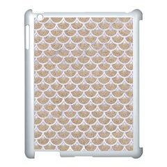 Scales3 White Marble & Sand Apple Ipad 3/4 Case (white) by trendistuff