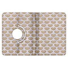 Scales3 White Marble & Sand Kindle Fire Hdx Flip 360 Case by trendistuff
