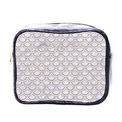 Scales2 White Marble & Sand (r) Mini Toiletries Bags by trendistuff