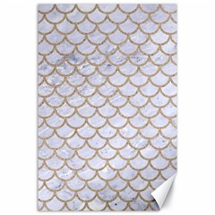 Scales1 White Marble & Sand (r) Canvas 24  X 36  by trendistuff