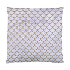Scales1 White Marble & Sand (r) Standard Cushion Case (one Side) by trendistuff