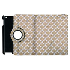 Scales1 White Marble & Sand Apple Ipad 3/4 Flip 360 Case by trendistuff