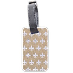 Royal1 White Marble & Sand (r) Luggage Tags (two Sides) by trendistuff