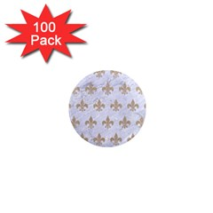 Royal1 White Marble & Sand 1  Mini Magnets (100 Pack)  by trendistuff