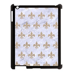 Royal1 White Marble & Sand Apple Ipad 3/4 Case (black) by trendistuff