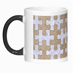 Puzzle1 White Marble & Sand Morph Mugs by trendistuff