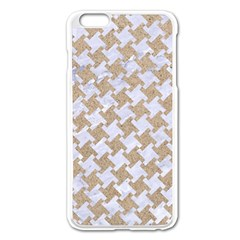 Houndstooth2 White Marble & Sand Apple Iphone 6 Plus/6s Plus Enamel White Case by trendistuff