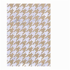 Houndstooth1 White Marble & Sand Small Garden Flag (two Sides) by trendistuff