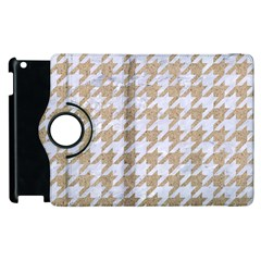 Houndstooth1 White Marble & Sand Apple Ipad 3/4 Flip 360 Case by trendistuff