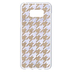 Houndstooth1 White Marble & Sand Samsung Galaxy S8 Plus White Seamless Case by trendistuff