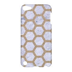 Hexagon2 White Marble & Sand (r) Apple Ipod Touch 5 Hardshell Case by trendistuff