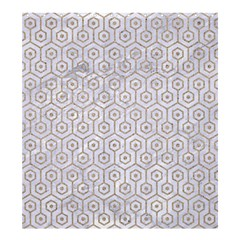 Hexagon1 White Marble & Sand (r) Shower Curtain 66  X 72  (large)