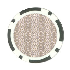 Hexagon1 White Marble & Sand Poker Chip Card Guard
