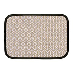 Hexagon1 White Marble & Sand Netbook Case (medium)