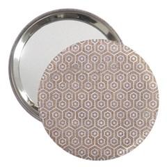 Hexagon1 White Marble & Sand 3  Handbag Mirrors by trendistuff