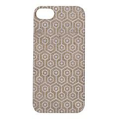 Hexagon1 White Marble & Sand Apple Iphone 5s/ Se Hardshell Case
