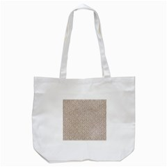 Hexagon1 White Marble & Sand Tote Bag (white) by trendistuff