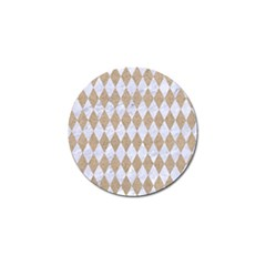 Diamond1 White Marble & Sand Golf Ball Marker by trendistuff