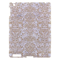 Damask2 White Marble & Sand (r) Apple Ipad 3/4 Hardshell Case