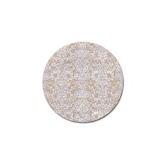 Damask2 White Marble & Sand Golf Ball Marker (10 Pack) by trendistuff