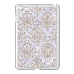 Damask1 White Marble & Sand (r) Apple Ipad Mini Case (white) by trendistuff