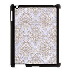Damask1 White Marble & Sand (r) Apple Ipad 3/4 Case (black) by trendistuff