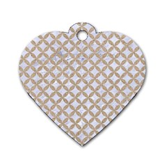Circles3 White Marble & Sand (r) Dog Tag Heart (one Side) by trendistuff