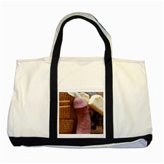 Big Man Two Toned Tote Bag by thehogpen