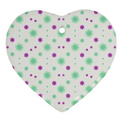 Stars Motif Multicolored Pattern Print Ornament (heart) by dflcprints
