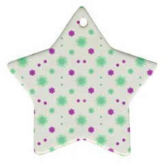 Stars Motif Multicolored Pattern Print Ornament (star) by dflcprints