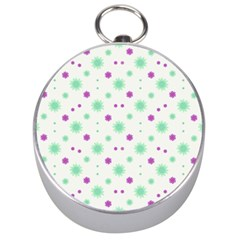Stars Motif Multicolored Pattern Print Silver Compasses by dflcprints