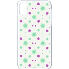 Stars Motif Multicolored Pattern Print Apple Iphone X Seamless Case (white) by dflcprints