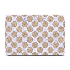 Circles2 White Marble & Sand (r) Plate Mats by trendistuff