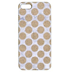 Circles2 White Marble & Sand (r) Apple Iphone 5 Hardshell Case With Stand