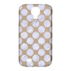 Circles2 White Marble & Sand Samsung Galaxy S4 Classic Hardshell Case (pc+silicone)