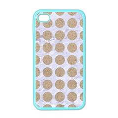 Circles1 White Marble & Sand (r) Apple Iphone 4 Case (color) by trendistuff
