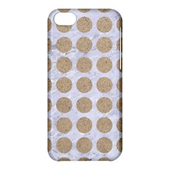 Circles1 White Marble & Sand (r) Apple Iphone 5c Hardshell Case by trendistuff