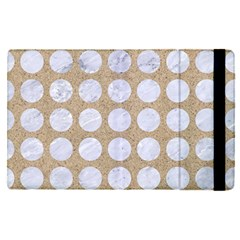 Circles1 White Marble & Sand Apple Ipad Pro 9 7   Flip Case