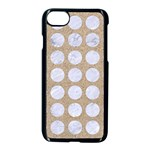 CIRCLES1 WHITE MARBLE & SAND Apple iPhone 8 Seamless Case (Black) Front