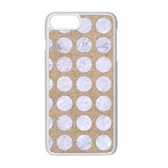 Circles1 White Marble & Sand Apple Iphone 8 Plus Seamless Case (white)