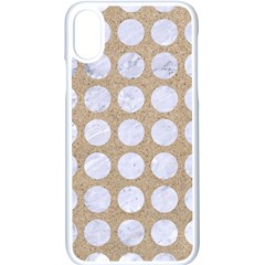 Circles1 White Marble & Sand Apple Iphone X Seamless Case (white)